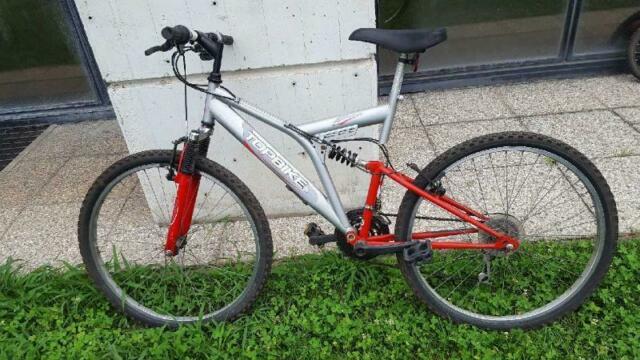 Bicicletta uomo top bike grigio ammort