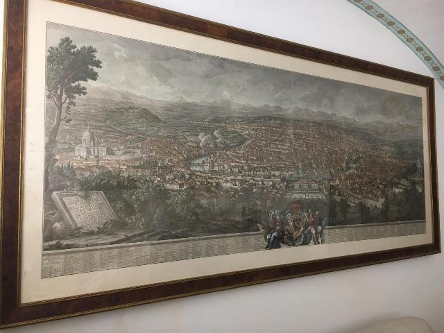 STAMPA PIANTA ANTICA CITTA DI ROMA