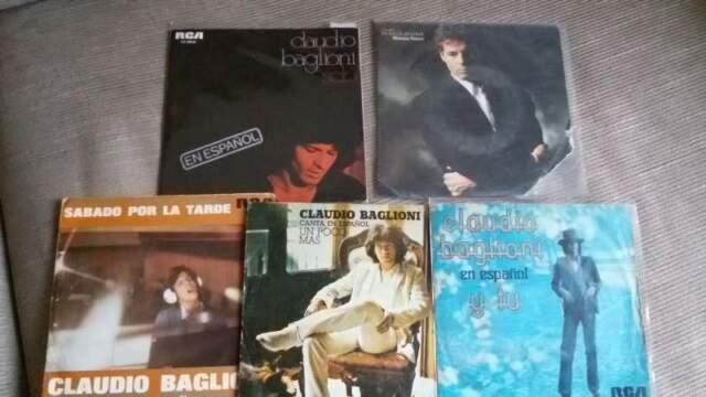 Claudio baglioni 45 giri canta in spagnolo e vari promo