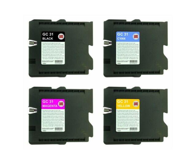 SET 4 Cartuccia compatibile RICOH GC31 CMYK