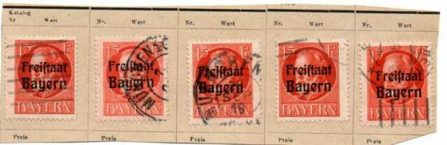 Germania  antichi stati Baviera pf 15 soprastampati