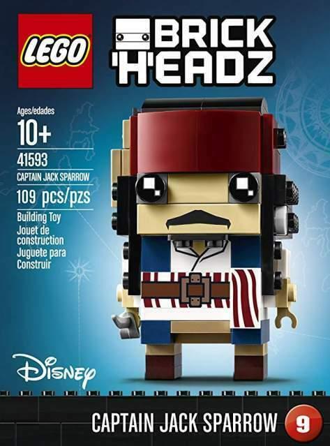 LEGO BrickHeadz Capitano Jack Sparrow Disney + Spedizioni