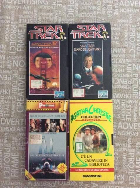 4 VHS fantascienza - gialli