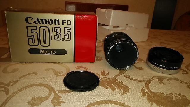 CANON FD 50MM F3.5 MACRO