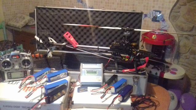 Gaui Hurricane 425 + spektrum dx8 + caricabatterie + up