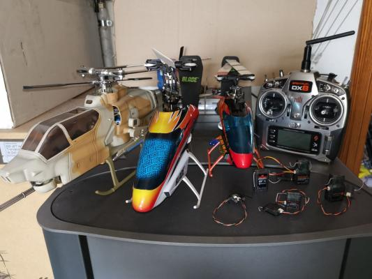 Radio Spektrum DX8 e elicotteri