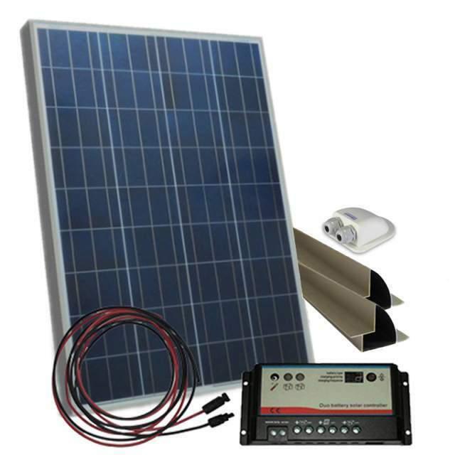 Kit solare Camper Pannello 150W regolatore di carica MC4
