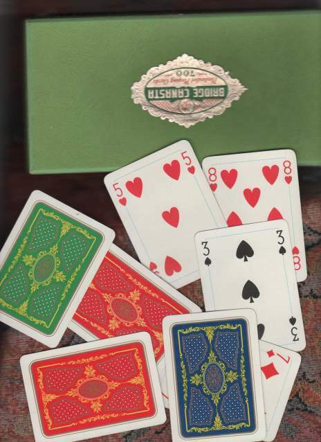 Carte da gioco canasta e bridge