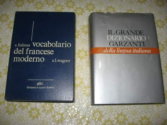 Dizionario lingua italiano Garzanti Vocabolario Francese