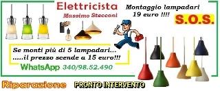Elettricista per il montaggio del tuo lampadario