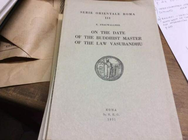 On the date of the Buddhist master of the law Vasubandhu.: