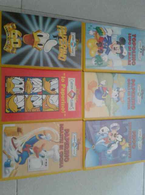 Vhs disney topolino superstar mini classici disney, pippo,