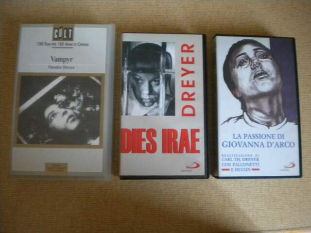 Carl Th. Dreyer, Lotto 3 vhs come nuove