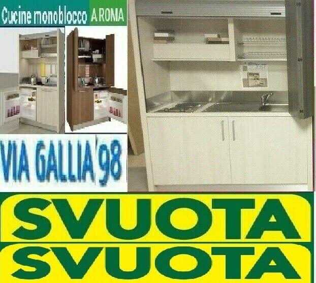 Cucina monoblocco K 102 a scomparsa - cucine a