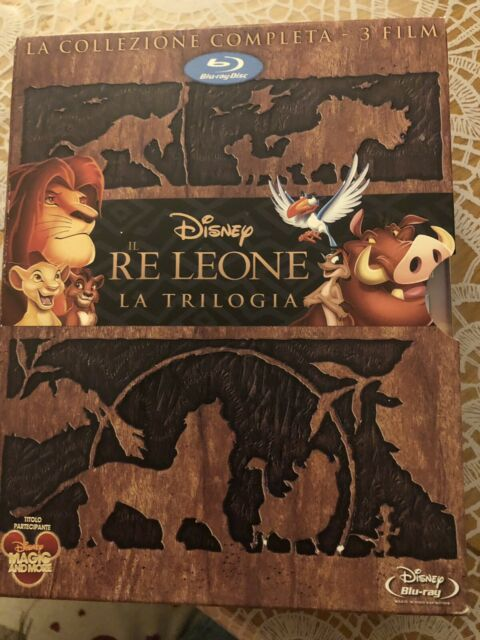 Il re leone la trilogia in blu ray Disney cofanetto