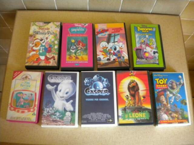 Cartoni animati ' lotto 16 VHS originali