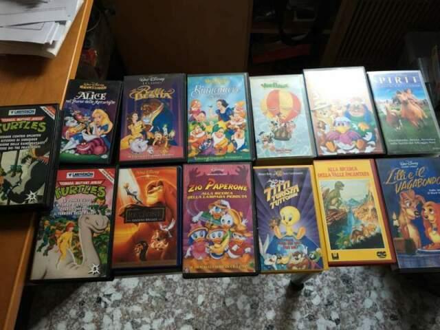 Collezione Completa Cassette VHS Cartoni Animati!*