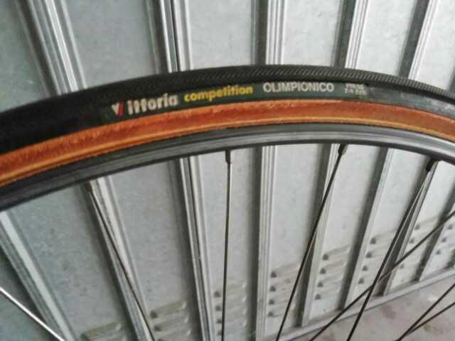 Coppia ruote bici da corsa campagnolo record C vintage