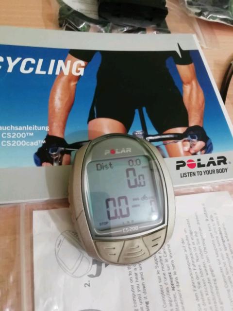 Polar CS200 cad ciclocomputer cardiofrequenzimetro
