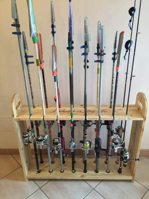 Portacanne trota lago posot class for Rastrelliera per canne da pesca