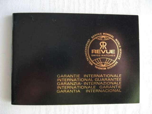 Certificato di Garanzia Revue x collezionisti - Istruzioni