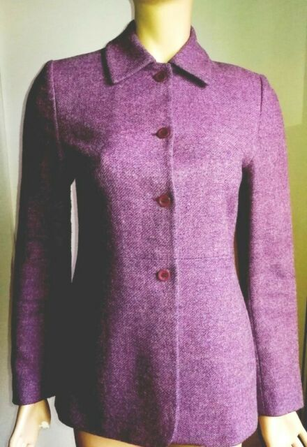 Originale MICHELA PAOLONI, giacca sartoriale lana viola, Tg