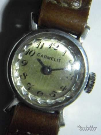 Orologio vintage argento per donna meccanico