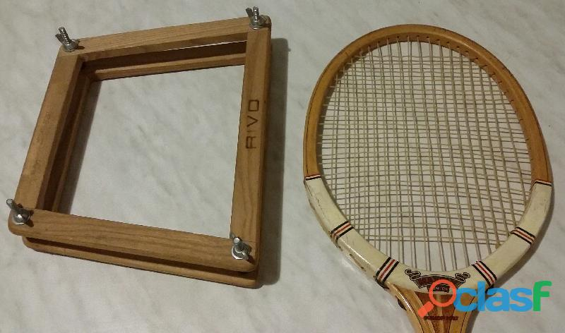 Racchetta da Tennis in Legno Vintage anni '60 Marca Dunlop,