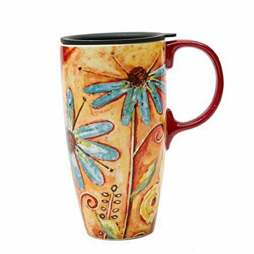 Cypress Home, tazza da caffè in ceramica con coperchio