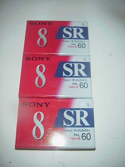 Cassette sony video 8 videocassette video8 videocamera hi8