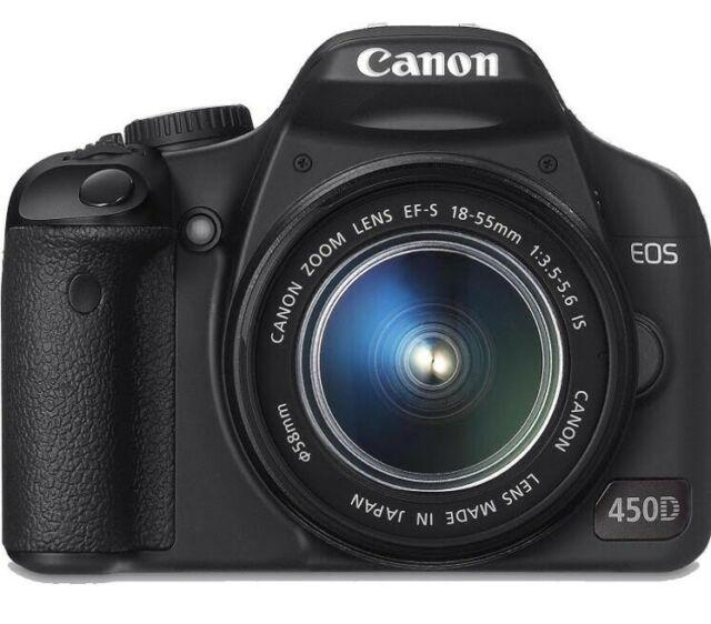 Canon EOS 450D con obiettivo