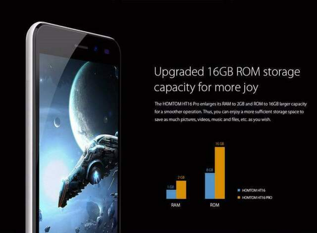 Smartphone HOMTOM HT16 PRO 2GB RAM 16GB ROM MTK673