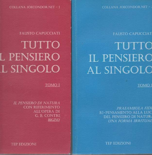 Fausto Capucciati Tutto il pensiero al singolo TEP Edizioni
