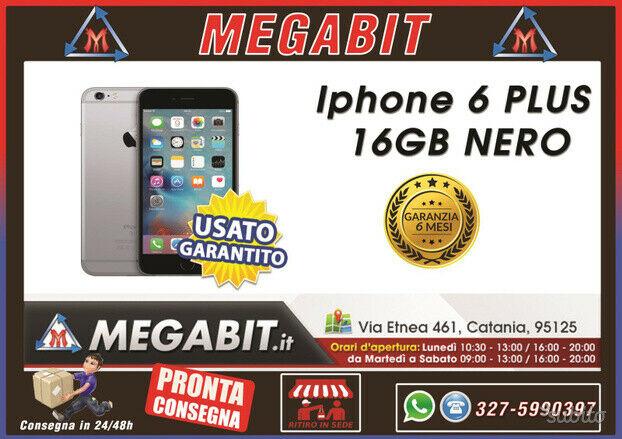 Iphone 6 plus 16gb nero con garanzia