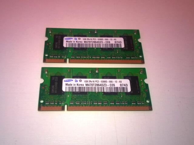 2GB (2x1GB) DDR PCS SODIMM - Memoria RAM