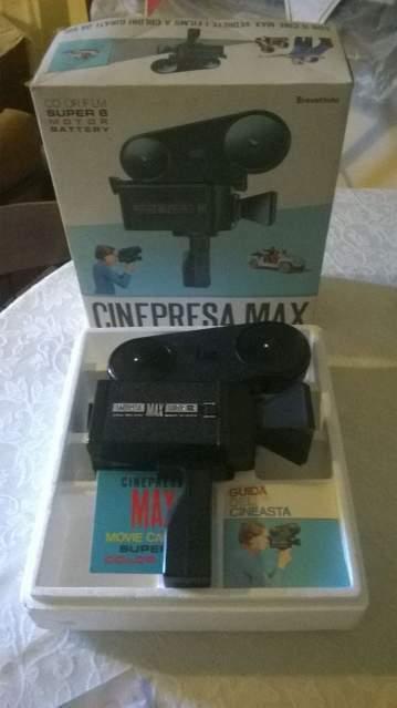 Cinepresa max super8 vintage gioco giocattolo film pellicola