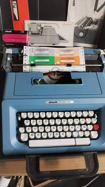 Macchina da scrivere olivetti studio 46,vintage
