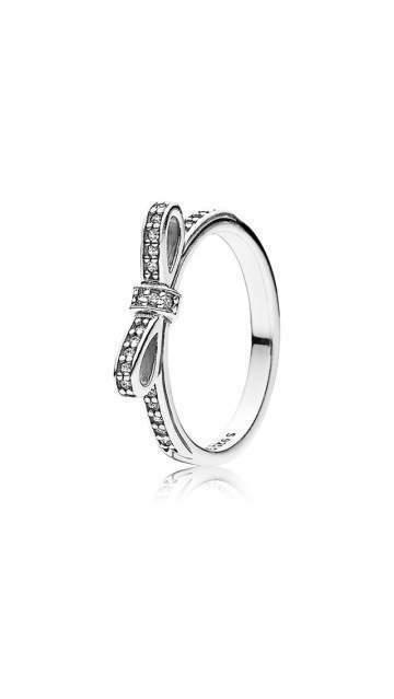 anello fiocco e perla pandora