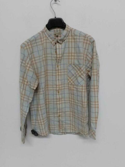 Camicia uomo burberry quadri beige