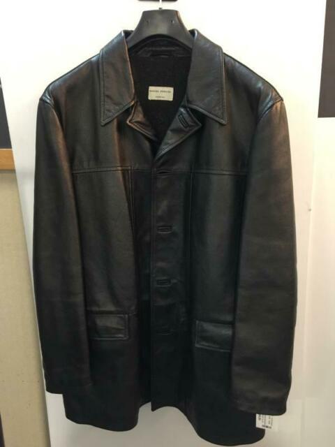 Cappotto uomo massimo rebecchi pelle nera t.54