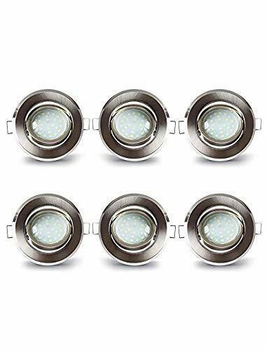 LAMPAOUS - Set di 6 faretti da incasso a LED, in alluminio,