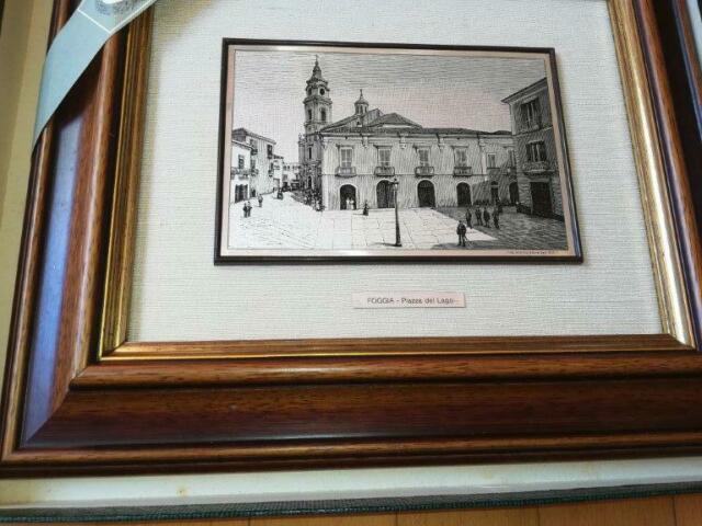 Litografia su lastra d'ARGENTO 800‰ Palazzo del