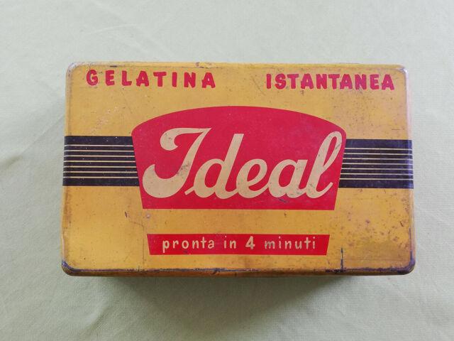 Scatola di latta gelatina ideal