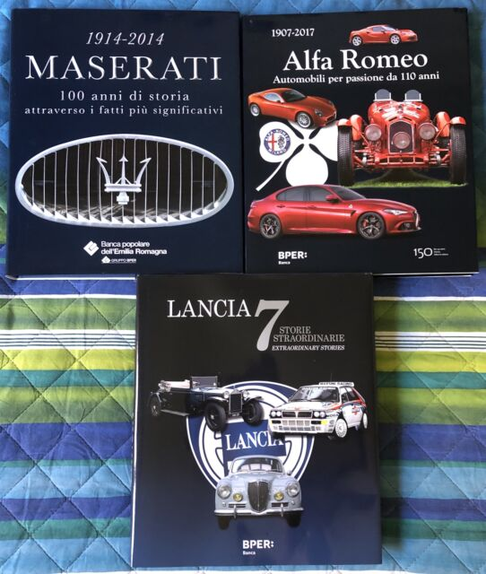 Libri Lancia, Maserati e Alfa Romeo da collezione