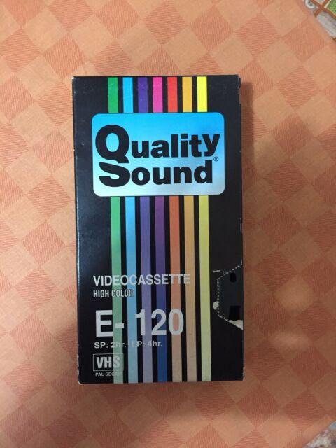 Videocassetta Quality Sound E-120 VHS (2 ore)