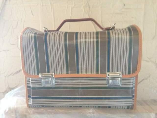 Cartella scuola vintage anni 70 vari colori nuove