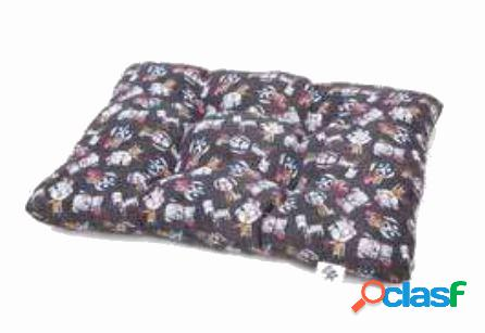 Leopet cuscino per cani bomber cane grigio cm 60 x 100