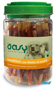 Oasy snack per cani involtini con filetto di anatra