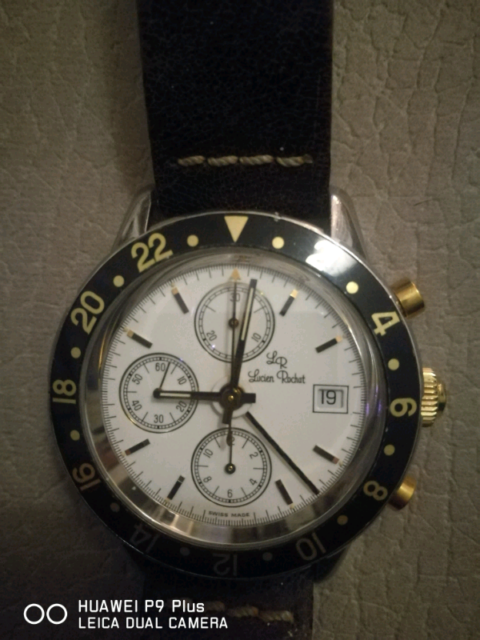 Orologio Cronografo GMT Lucien Rochat oro acciaio originale