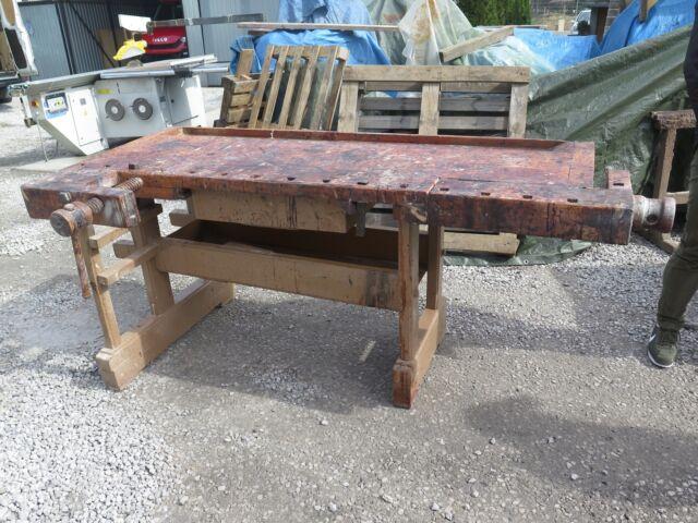 Antico banco da falegname tavolo